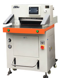 China Programmable Hydraulic Paper Cutting Machine 670mm With Touch Screen supplier