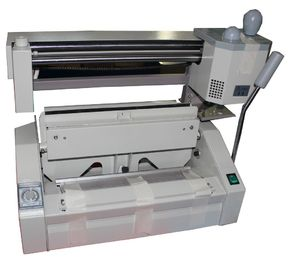China Tabletop Manual Hot Melt Glue Book Binding Machine Wireless For Hard / Soft Covers supplier
