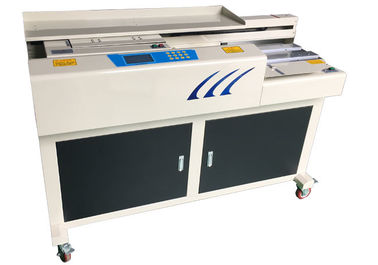 China A4 Hot Melt Glue Hardcover Book Binding Equipment For 320mm Size CE Certificated distributor